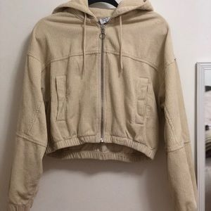 BDG Cream Corduroy Cropped Jacket